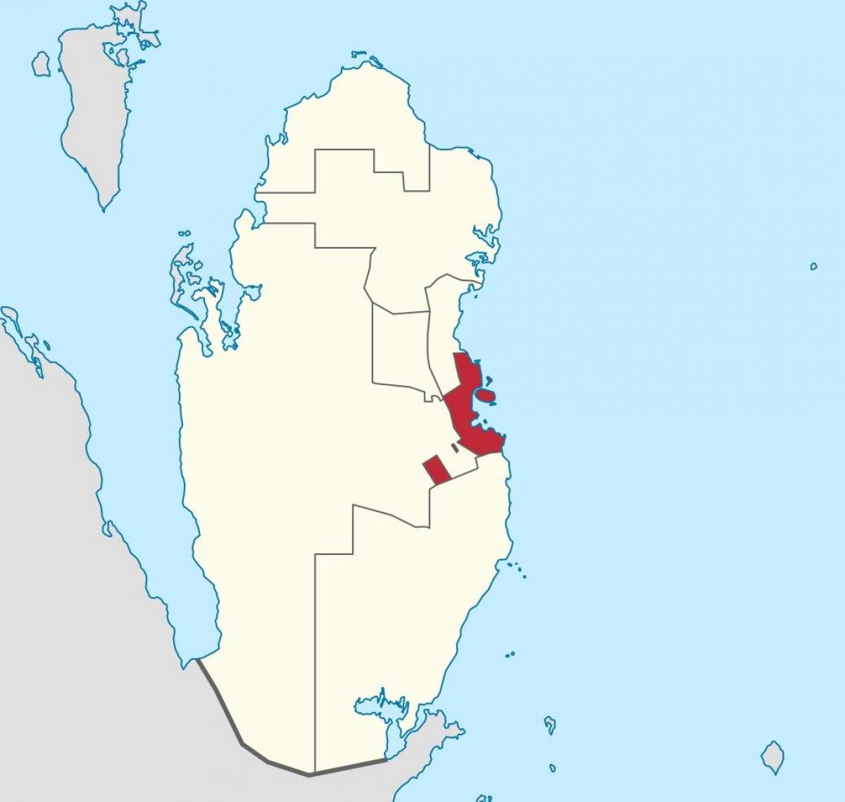 Doha Karte Welt.Doha Katar Standort Auf Weltkarte Karte Von Doha Katar