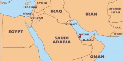 katar weltkarte Katar map   Karten Katar (West Asien   Asia) katar weltkarte